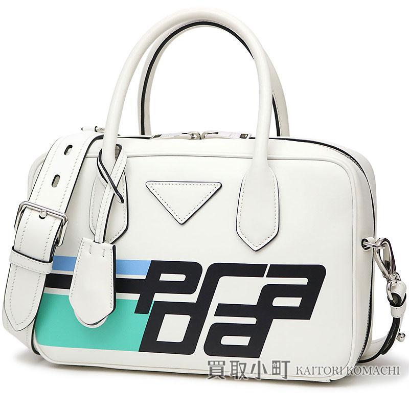 482649a3d653 KAITORIKOMACHI: Prada leather top steering wheel bag white + black calfskin  2WAY shoulder bag handbag 1BB049 20MA F0964 SMALL LEATHER TOP HANDLE BAG  CITY ...