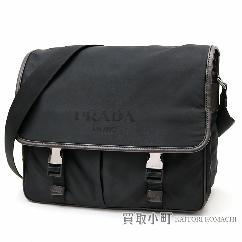 2638a5a1684f Prada nylon messenger bag triangle logo crossbody bag shoulder bag men  VA0768 NYLON LOGO JACQ NERO ...