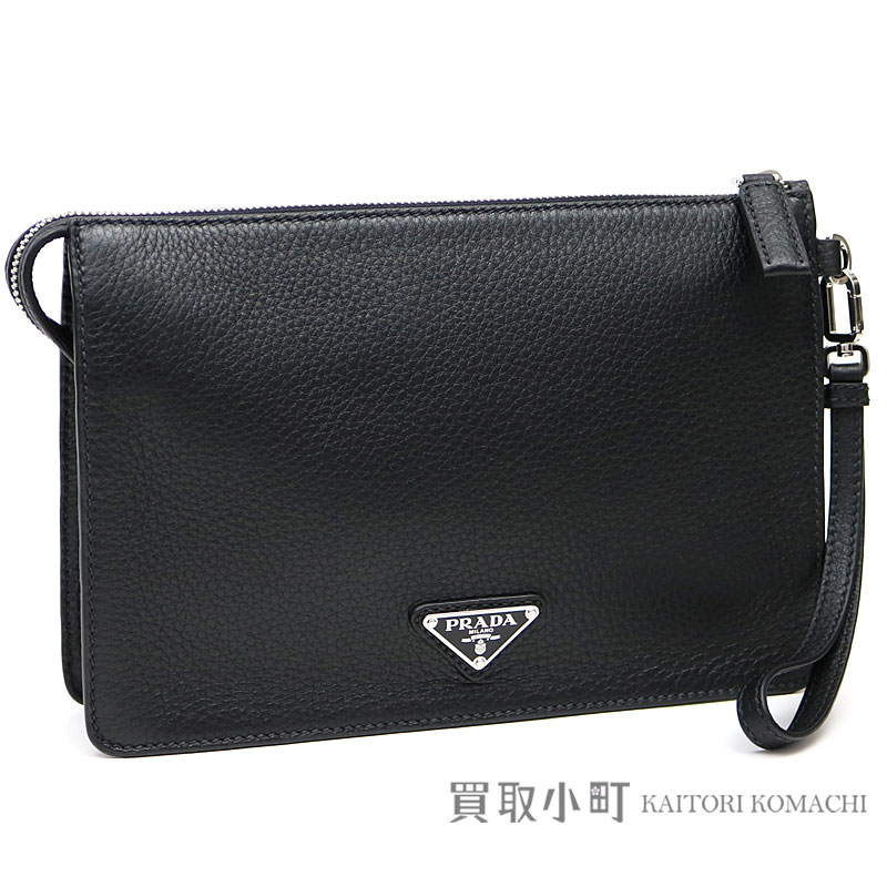 de4b126eed5b KAITORIKOMACHI  List of Prada triangle logo second bag let black ...