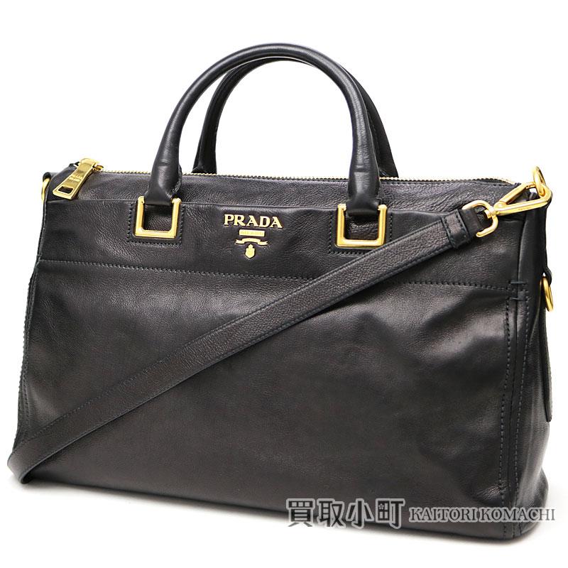 8694b0258b13f5 Prada metal logo handbag black calf-leather tote bag 2WAY shoulder bag  duffel BL0792PEO F0002 ...