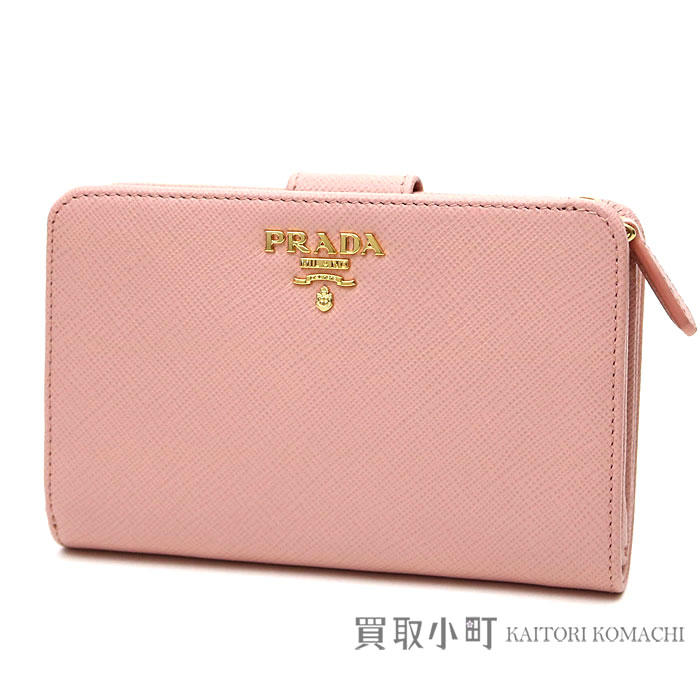 d06931f79651 Wallet compact wallet wallet 1ML225 QWA F0615 SAFFIANO METAL ORCHIDEA WALLET  with the プラダサフィアーノメタルロゴウォレットピンクカーフスキン folio ...
