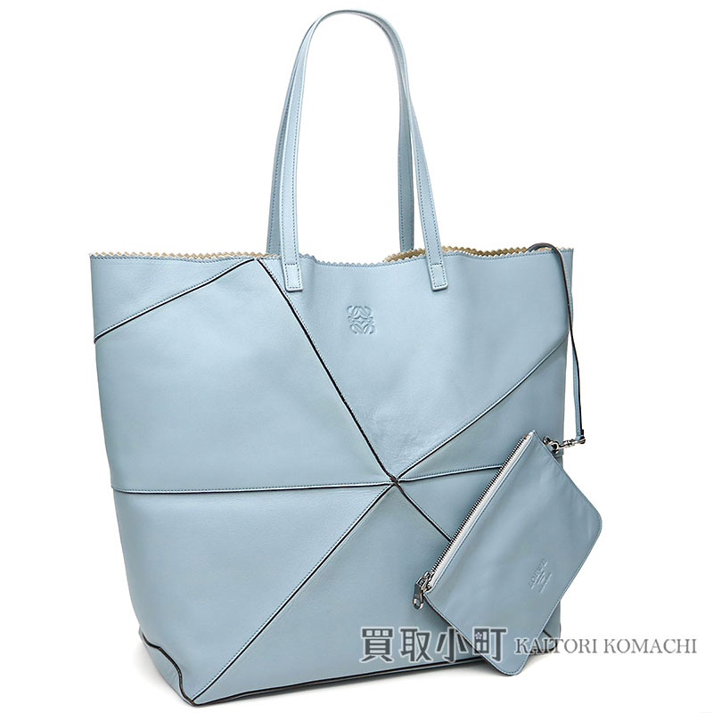 Loewe Origami Tote Bag Light Blue Sheepskin Shoulder Bag Shopping Bag Logogriph Emboss 39982lg67 Origami Tote Bag
