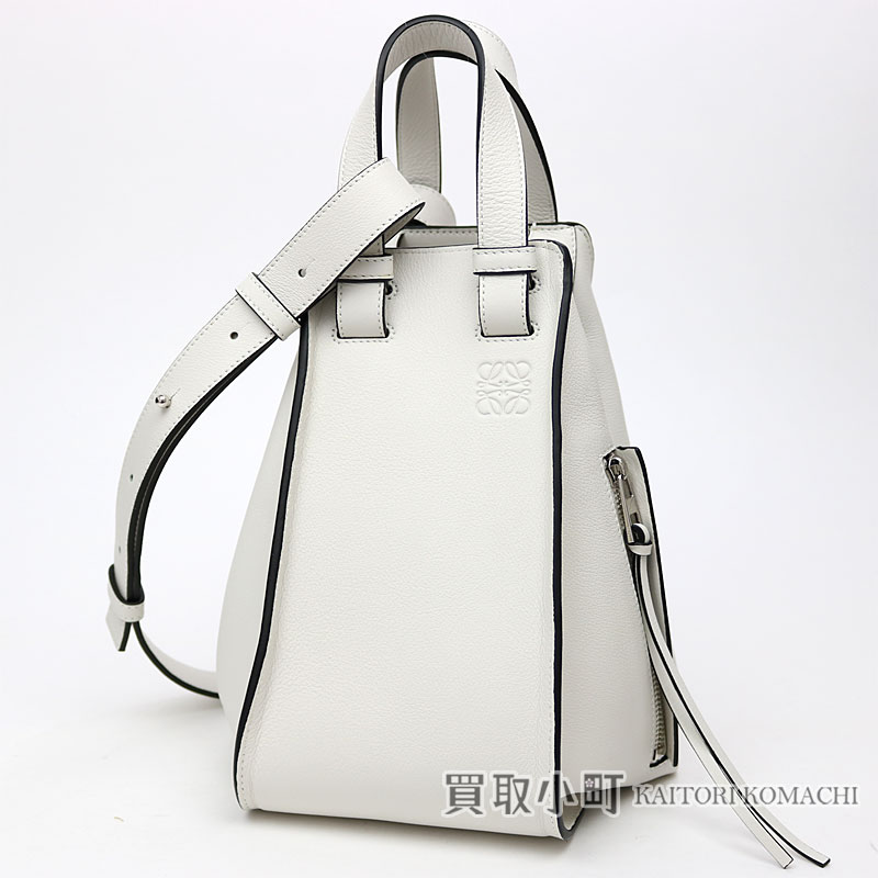 1e36972fb KAITORIKOMACHI: Take Loewe hammock Small bag white calfskin 2WAY shoulder  bag slant; handbag logogriph emboss 387.30 .N60 HAMMOCK SMALL BAG | Rakuten  Global ...