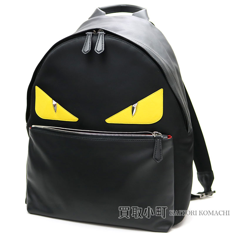 9471fca99292 KAITORIKOMACHI  Fendi bag bugs eye monster backpack black nylon X ...