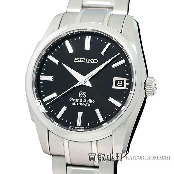 【美品】【OH済】グランドセイコー【Grand Seiko】 9Sメカニカル メンズウォッチ オートマティック ブラック SSブレス 男性用腕時計 SBGR023 9S55-0010 GS 9S MECHANICAL WATCH【Aランク】【中古】