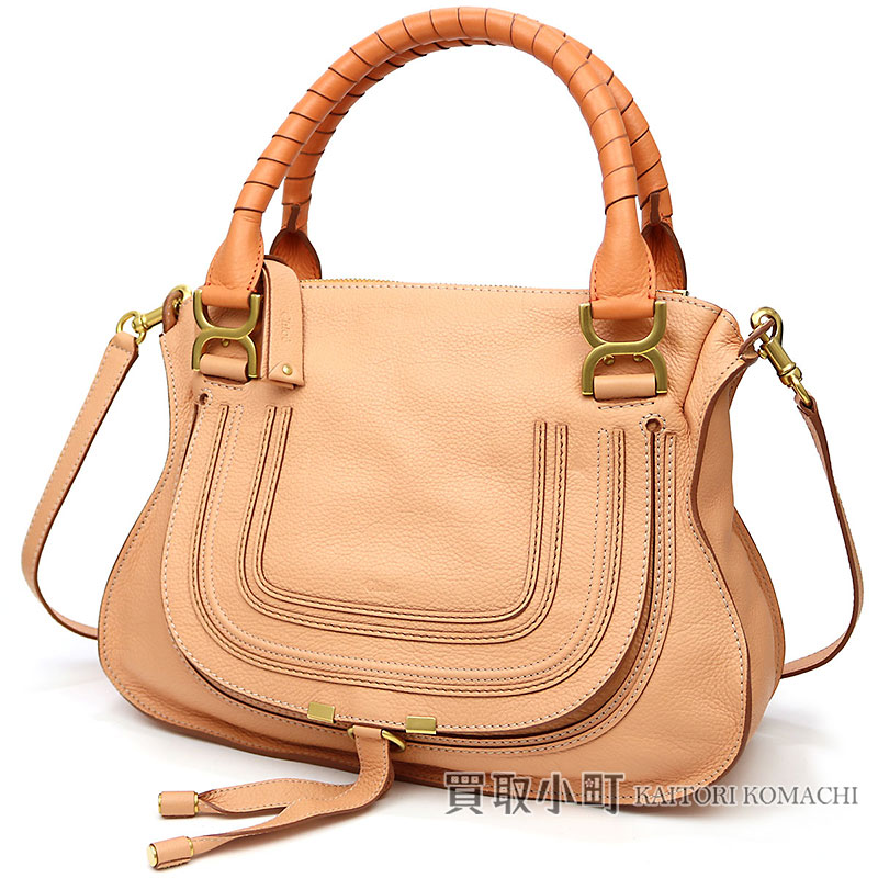e96abee85f2e Take Kuroe Marcie handbag grain calfskin beige pink X orange classical  music 2WAY shoulder bag tote ...