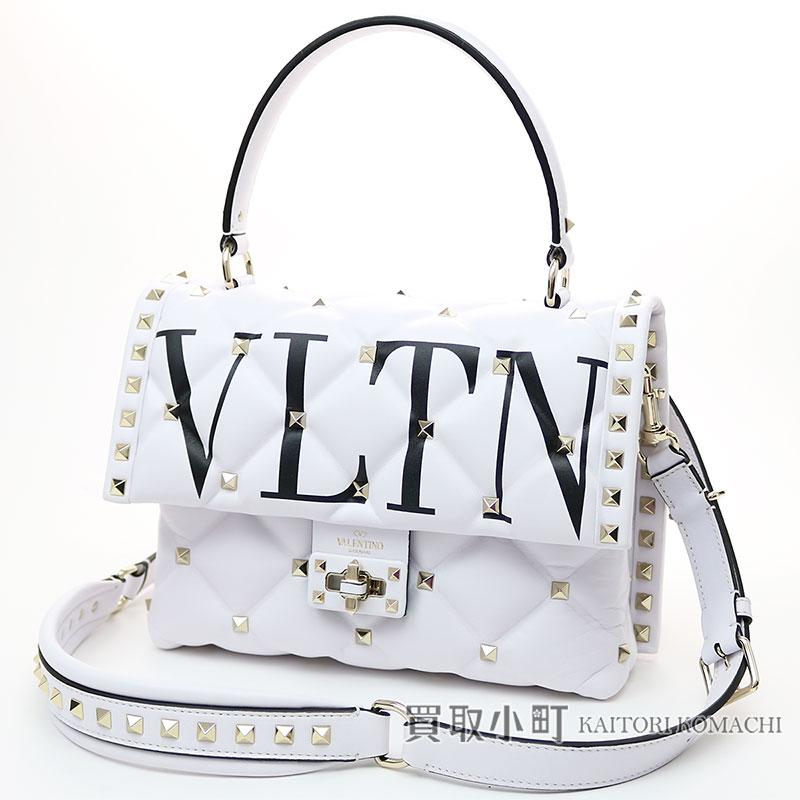 Valentino Garavani Candy Studs Handbag Vltn Pattern Print White Lambskin Qw2b0b55xqc 0vp Candystuds Hand Bag