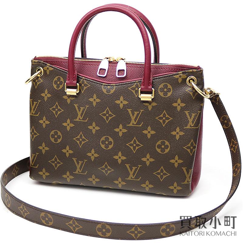 ac7a47c74f56 Take Louis Vuitton M42961 Pallas BB モノグラムレザングレインカーフショルダーバッグ 2WAY bag slant   LV PALLAS BB MONOGRAM RAISIN SHOULDER BAG