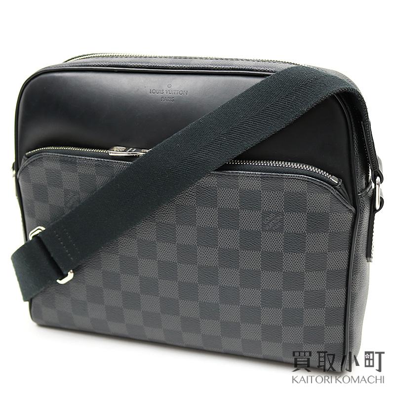 ルイヴィトン 【LOUIS VUITTON】 N41408 デイトンPM ダミエ・グラフィット メッセンジャーバッグ ショルダーバッグ メンズバッグ LV Diton PM Damier Graphite Messenger bag【ABランク】【中古】