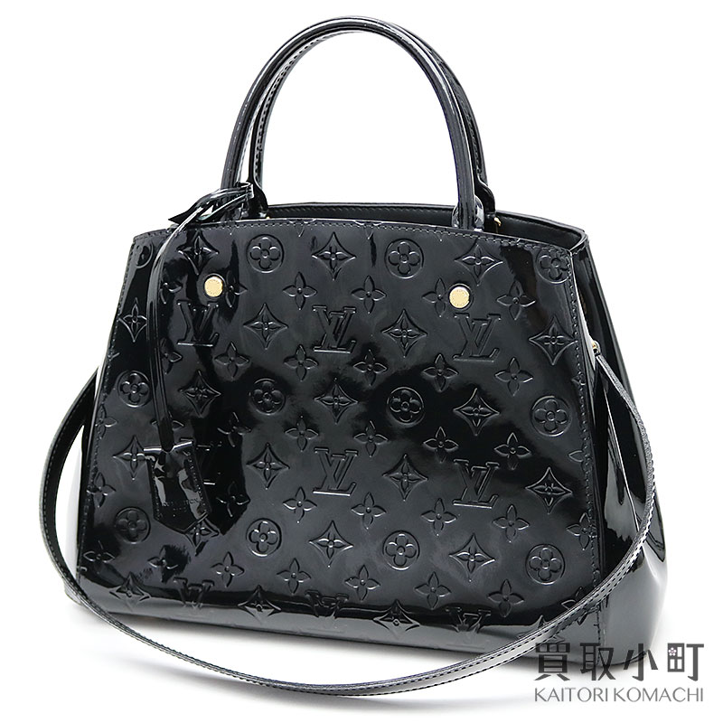 1bf8d0e5c3022 KAITORIKOMACHI  Louis Vuitton M50168 Montaigne MM モノグラムヴェルニノワール 2WAY  shoulder tote bag black patent leather LV MONTAIGNE MM MONOGRAM VERNIS  A  ...