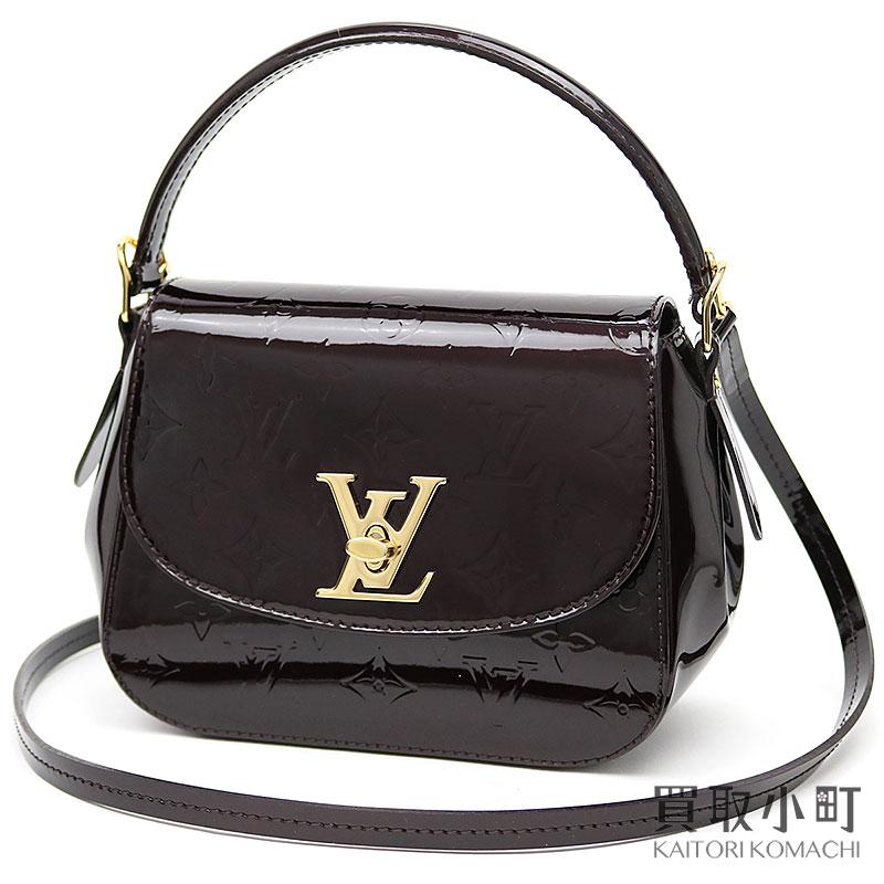 986743948d4 Take Louis Vuitton M90942 パサデナモノグラムヴェルニアマラント LV twist lock icon 2WAY  shoulder bag slant ...
