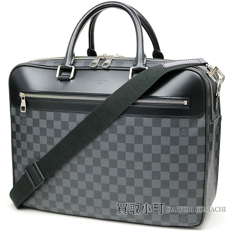 Louis Vuitton N41004 オーバーナイトダミエグラフィットブリーフケース 2way Shoulder Business Bag Dispatch Case Men Lv Overnight Damier Graphite