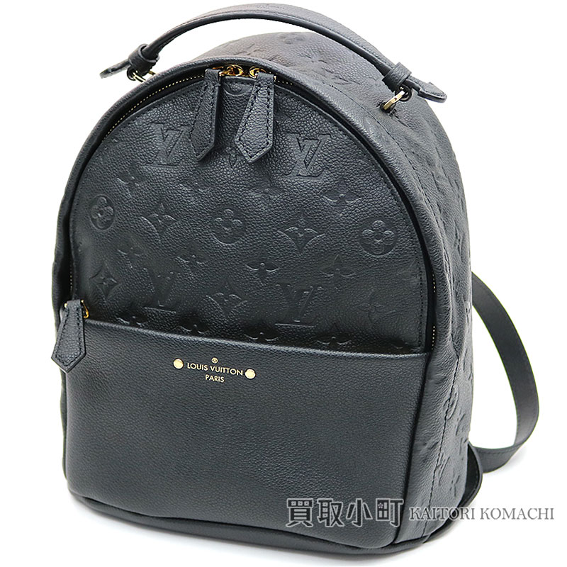 45de3eabffc2 Louis Vuitton M44016 Sorbonne backpack monogram amplifier Lunt rucksack day  pack case ad Lady s black leather LV SORBONNE BACKPACK MONOGRAM EMPREINTE  NOIR