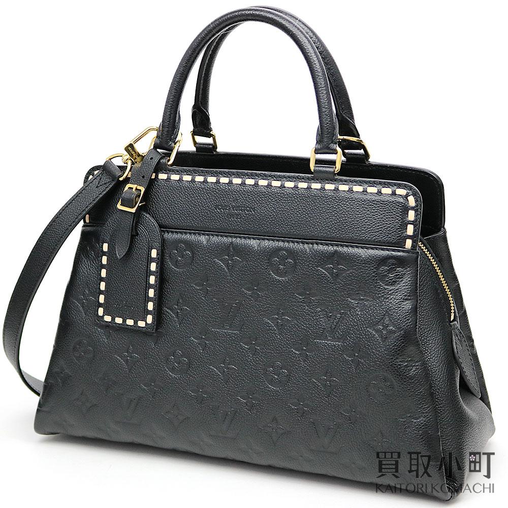 c60c9067e4a9 Louis Vuitton M41491 ヴォージュモノグラムアンプラントノワールハンドバッグトートバッグ 2WAY shoulder bag  black leather LV VOSGES MM MONOGRAM EMPREINTE NOIR