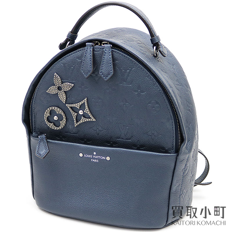 d684b6aa259 KAITORIKOMACHI: Louis Vuitton M43741 Sorbonne monogram amplifier Lunt dark  blue backpack rucksack day pack case ad flower broach pins LV SORBONNE  BACKPACK ...