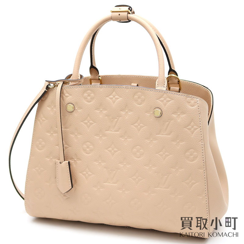 e981f09585f00 KAITORIKOMACHI  Louis Vuitton M44311 Montaigne MM monogram amplifier Lunt  beige Rose 2WAY shoulder tote bag oar leather LV MONTAIGNE MM MONOGRAM  EMPREINTE ...
