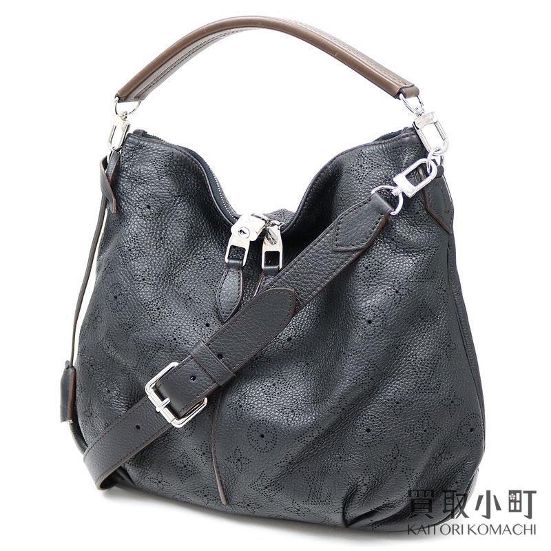 c99101677c79 ... PM monogram paralysis nano Waal silver metal fittings monogram  perforation black leather 2WAY shoulder bag Ho baud bag LV SELENE PM  MONOGRAM MAHINA HOBO ...
