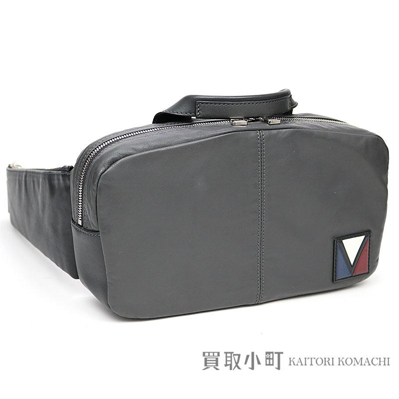 b02b221f5966 Louis Vuitton M50445 fast V line asphalt gray calfskin crossbody bag Bam bag  sling bag bum-bag waist porch shoulder bag clutch men LV FAST V LINE  ASPHALT ...