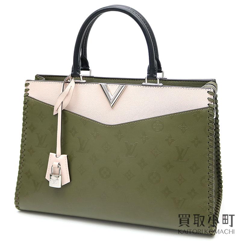 9cb50aef75b8 Louis Vuitton M52150 ヴェリージップドトートモノグラムレザーカーキファンゴ 2WAY shoulder bag handbag tote  bag LV Very Zipped Tote Khaki