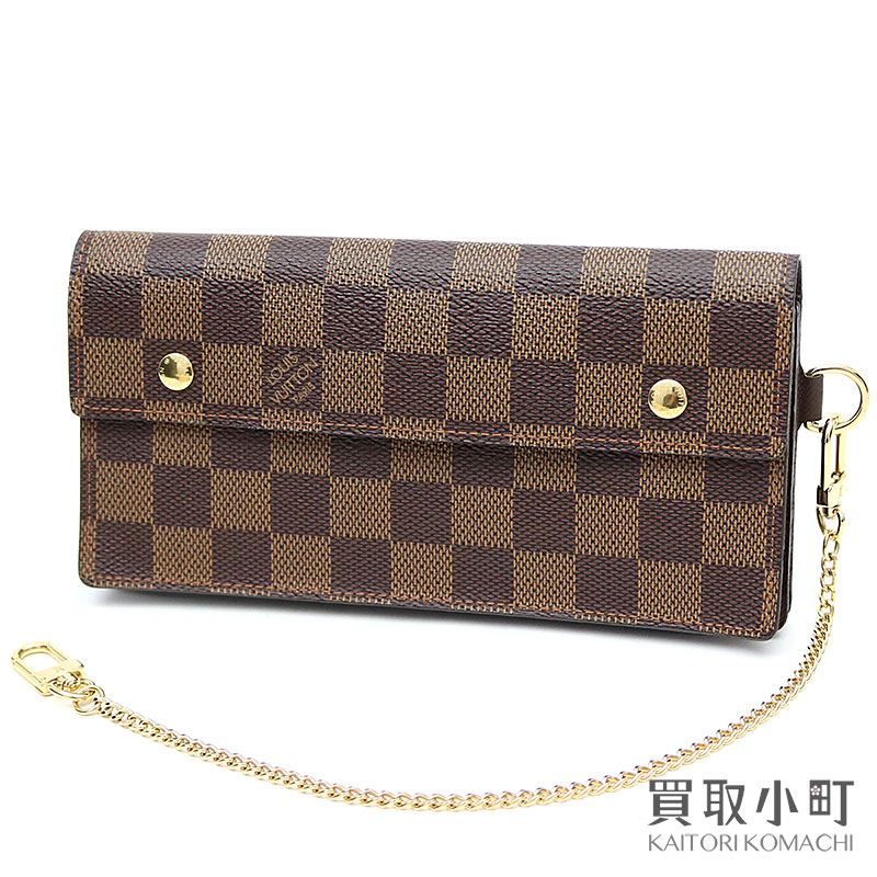 Head wallet men wallet LV ACCORDION WALLET DAMIER belonging to Louis Vuitton  N60002 ポルトフォイユアコルディオンダミエウォレットチェーン 1386fe0dd4d