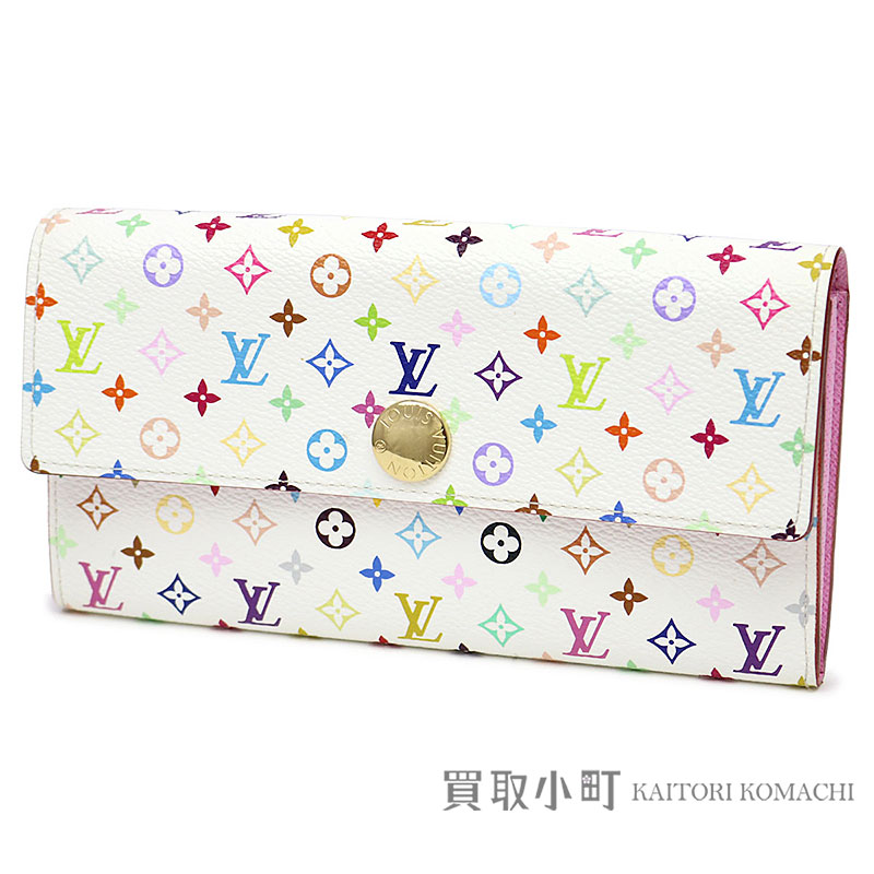 961f44682a4 Louis Vuitton M93744 ポルトフォイユサラモノグラムマルチカラーブロン X Rich flap wallet long wallet  wallet pink leather LV SARAH ...