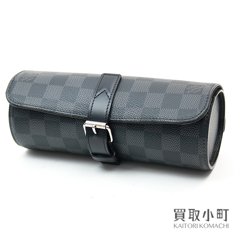 meet e3a49 c7593 Watch case watch case LV 3 WATCH CASE DAMIER GRAPHITE for Louis Vuitton  N41137 エテュイ 3 モントルダミエグラフィット three