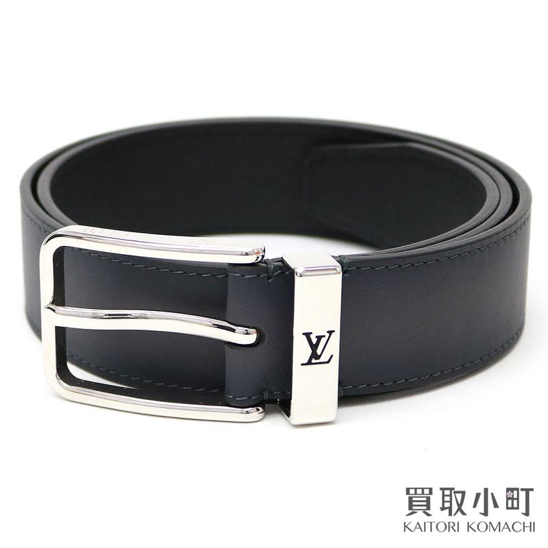 1e8060a9f552 Louis Vuitton M0094U サンチュールポンヌフ 35MM anthrashit on blurring calf-leather LV  logo loop men belt band 90cm Saint-Cheol Pont Neuf 35mm Anthracite ...