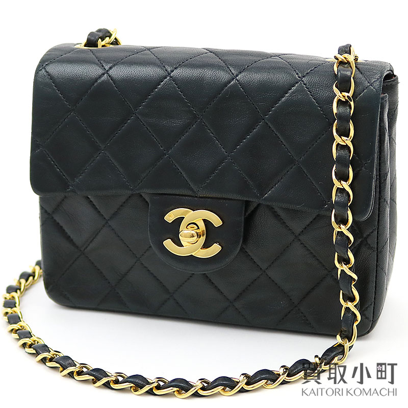 ca818fb07cce KAITORIKOMACHI: Take Chanel mini-matelasse classical music chain shoulder  bag black lambskin here mark twist lock flap bag slant; quilting vintage  A01115 ...
