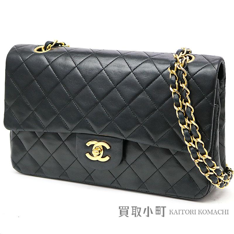 266d0028c79 KAITORIKOMACHI: Chanel matelasse 25 classic flap bag black lambskin gold  metal fittings medium W chain shoulder bag constant seller chain bag  matelasse line ...