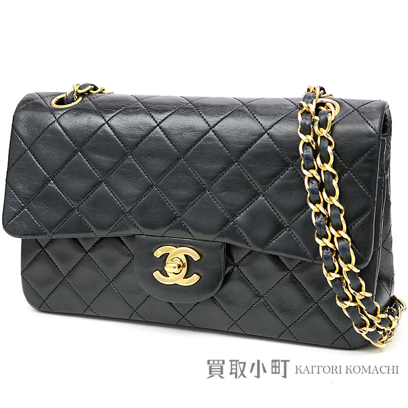 8fc3fdcc78da KAITORIKOMACHI: Chanel matelasse 23 classic Small handbag black lambskin gold  metal fittings double flap bag W chain shoulder bag constant seller chain  bag ...