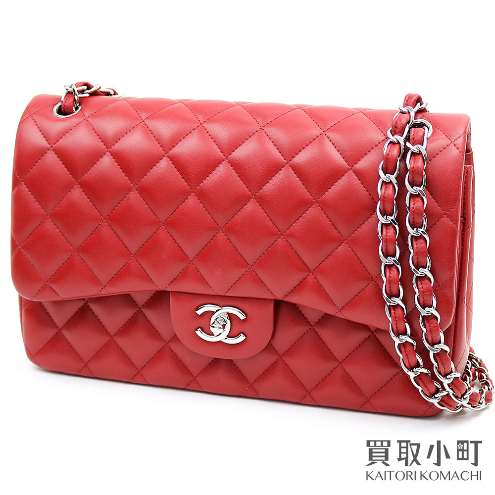 f6ad95e58f20 KAITORIKOMACHI: Chanel matelasse 30 classic large flap bag red lambskin  constant seller W chain shoulder here mark double flap act model ニ 重蓋 A58600  17th ...