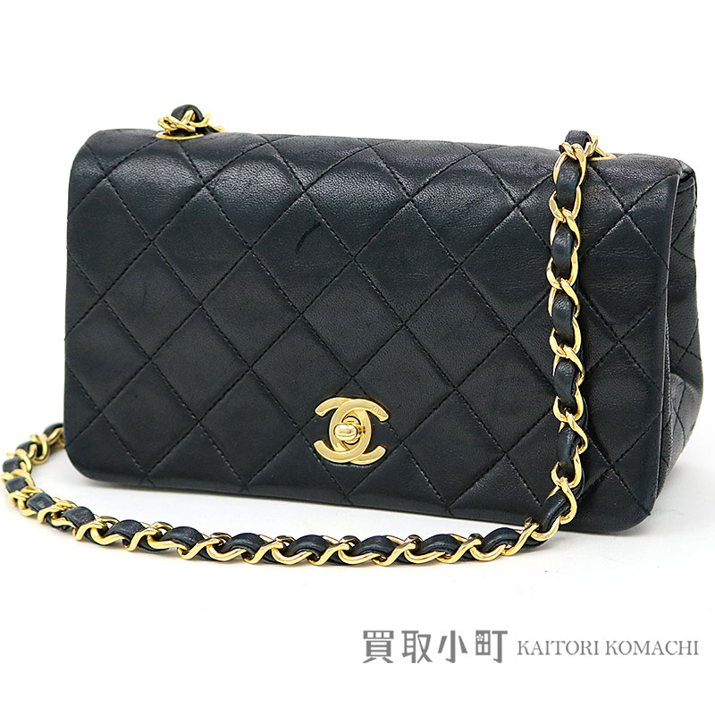 383232e6429a38 KAITORIKOMACHI: Take Chanel mini-matelasse classical music flap bag black  lambskin CC mark twist lock full flap chain shoulder slant; vintage #01  CLASSIC ...