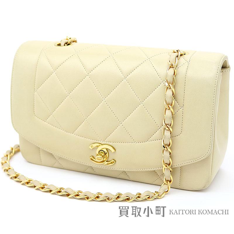 KAITORIKOMACHI  Take Chanel matelasse classical music flap bag beige ... aefca7ef9276b