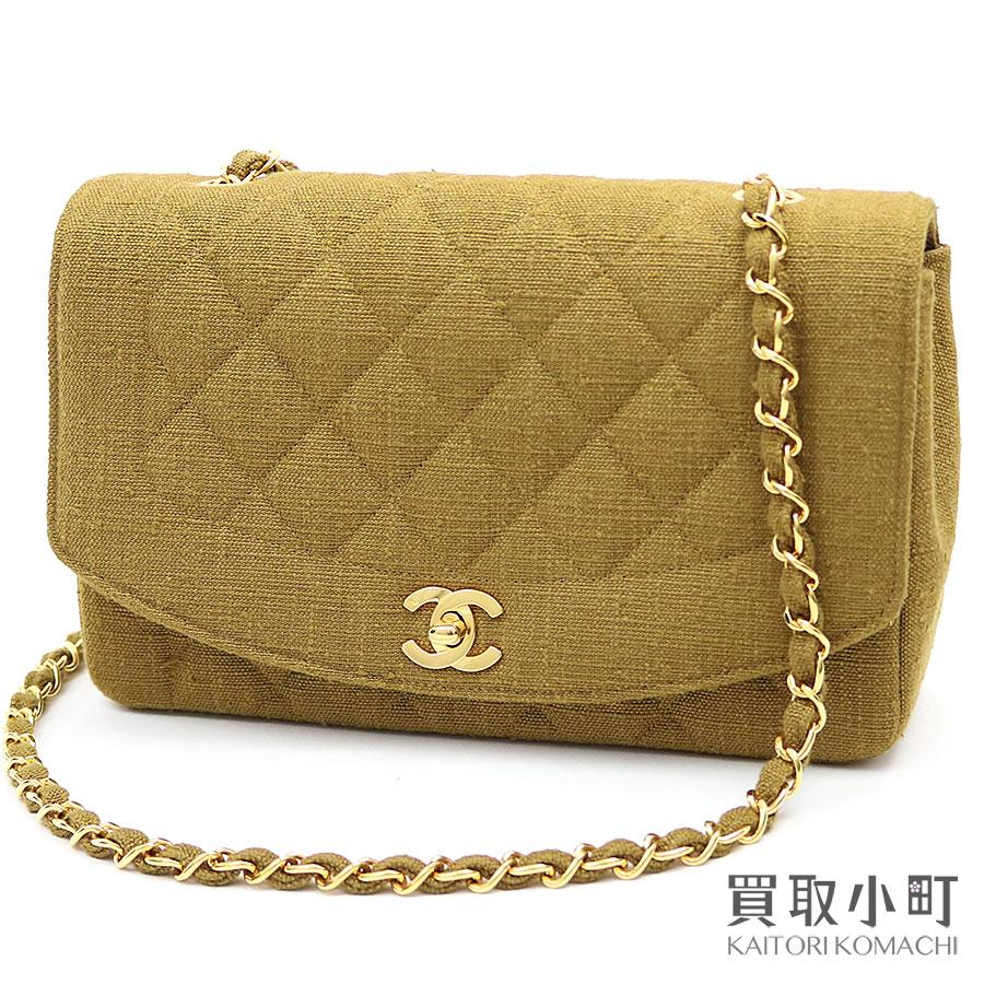 6e09995b317e KAITORIKOMACHI  Take Chanel matelasse classical music flap bag linen ...