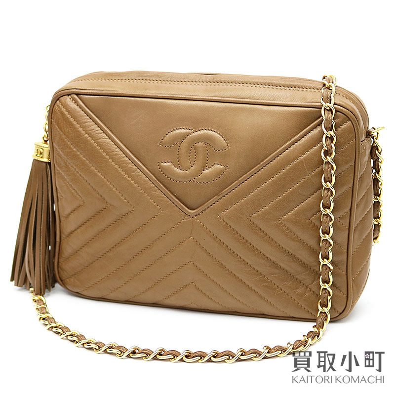 b28aaa16c5f KAITORIKOMACHI: Chanel here mark stitch tassel charm chain shoulder bag  brown lambskin quilting fringe classical music vintage #00 CLASSIC TASSEL  CHAIN ...