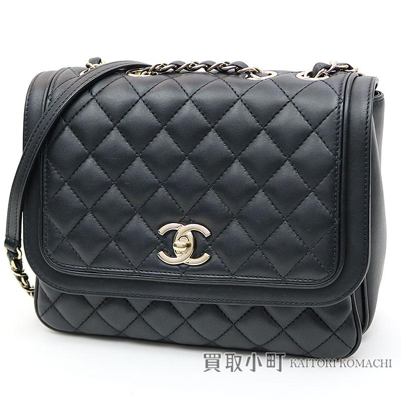 da986ed16ac7 KAITORIKOMACHI: Take Chanel matelasse classical music flap bag black ...