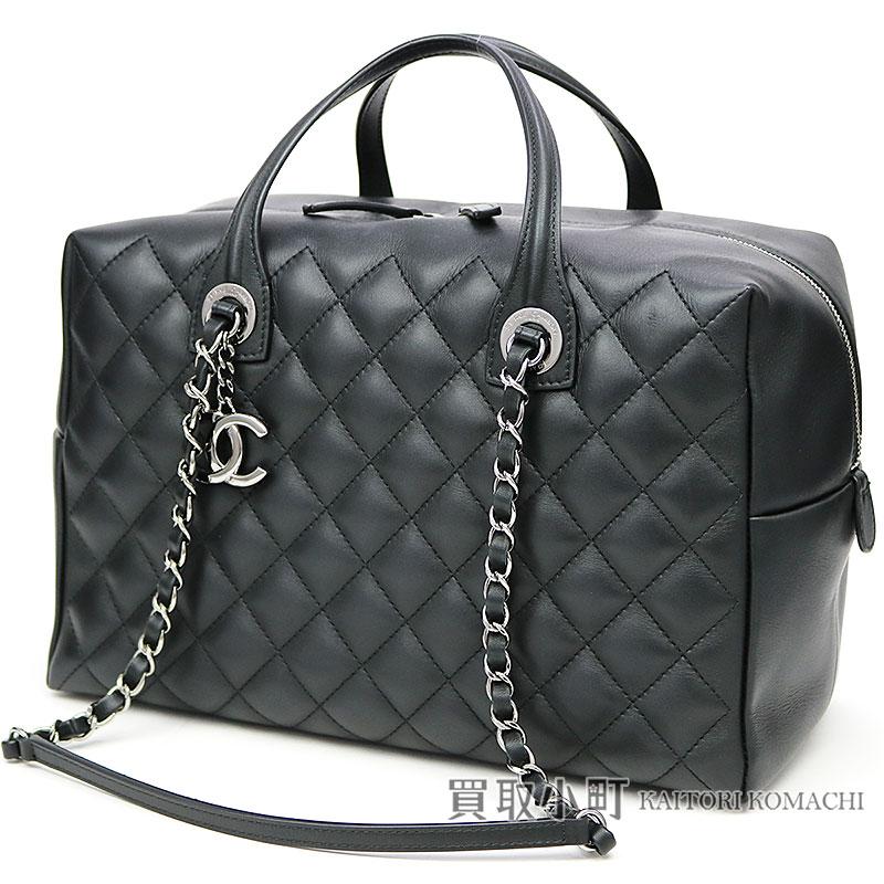 84a2f468b128 KAITORIKOMACHI: Chanel chain shoulder bowling bag black calfskin here mark  charm matelasse quilting classical music A93971 #22 BOWLING BAG CC LOGO |  Rakuten ...