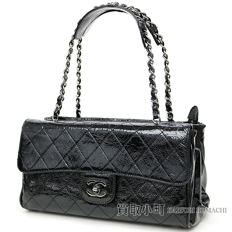 9f6522a2f187 KAITORIKOMACHI  Chanel matelasse pouch chain shoulder tote bag black ...