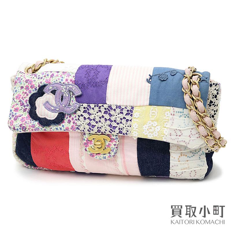 f89a0d79e08d KAITORIKOMACHI: Chanel patchwork chain shoulder bag multicolored flap bag  flower motif A31818 #10 Patchwork Flap Bag | Rakuten Global Market