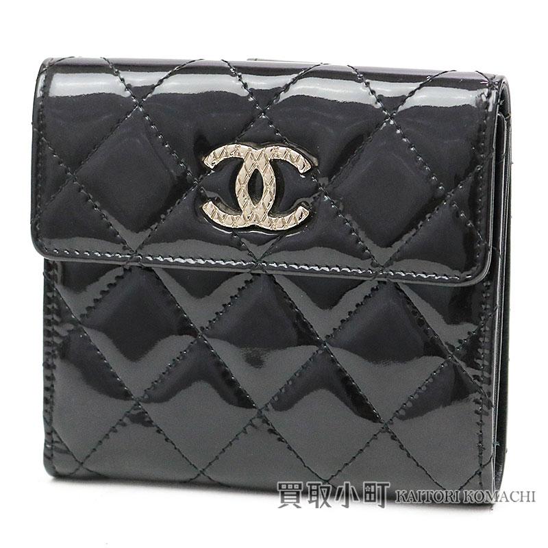 b739bbf58255 ... kaitorikomachi chanel brilliant compact wallet black patent leather ...