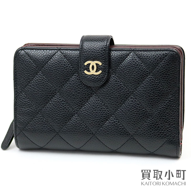 8c8ada6bb4edd5 KAITORIKOMACHI: Chanel thymeless classic medium wallet black caviar skin  quilting round zip matelasse here mark wallet wallet A48667 #21 ZIP WALLET  ...