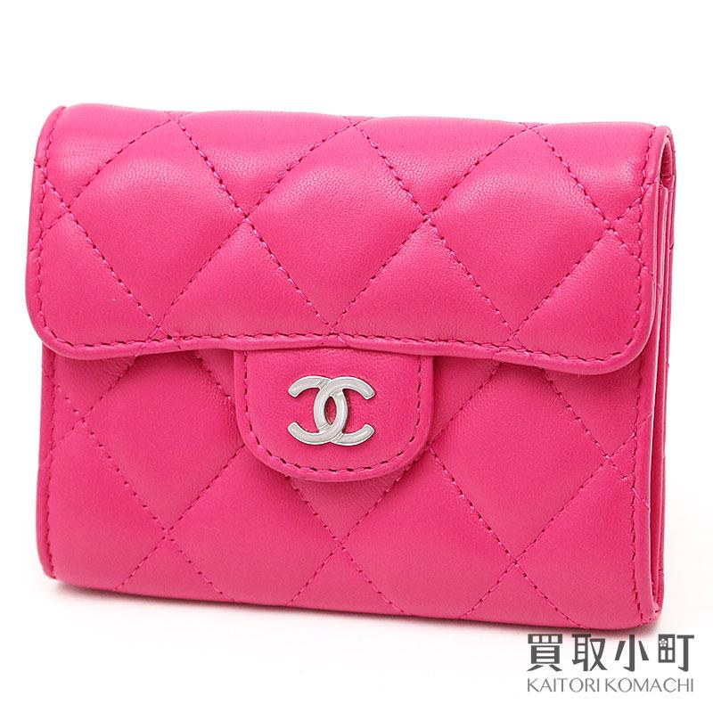 e918e397f933 KAITORIKOMACHI  Chanel quilting card case thymeless classic pink ...