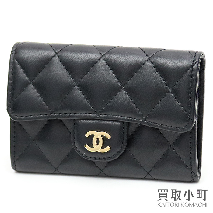 9997694c2be4 Chanel quilting card case thymeless classic black lambskin matelasse card case  coin case cardholder here mark ...