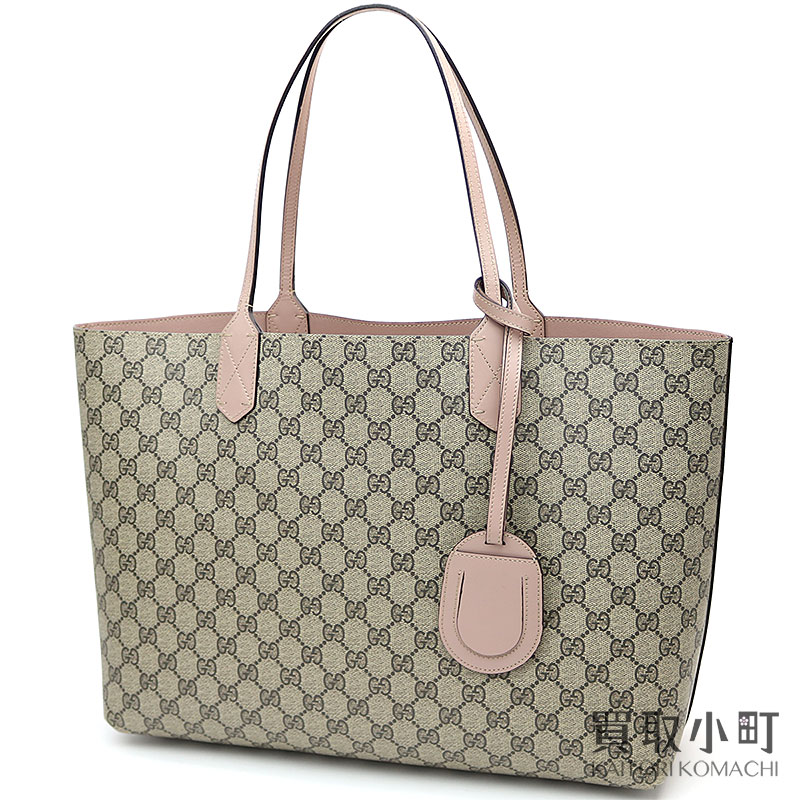 e50f489cb48b Gucci reversible GG leather tote bag medium GG  スプリームキャンバススモーキーピンクショルダーショッピング 368568 A9810 8412 GG REVERSIBLE MEDIUM TOTE  ...