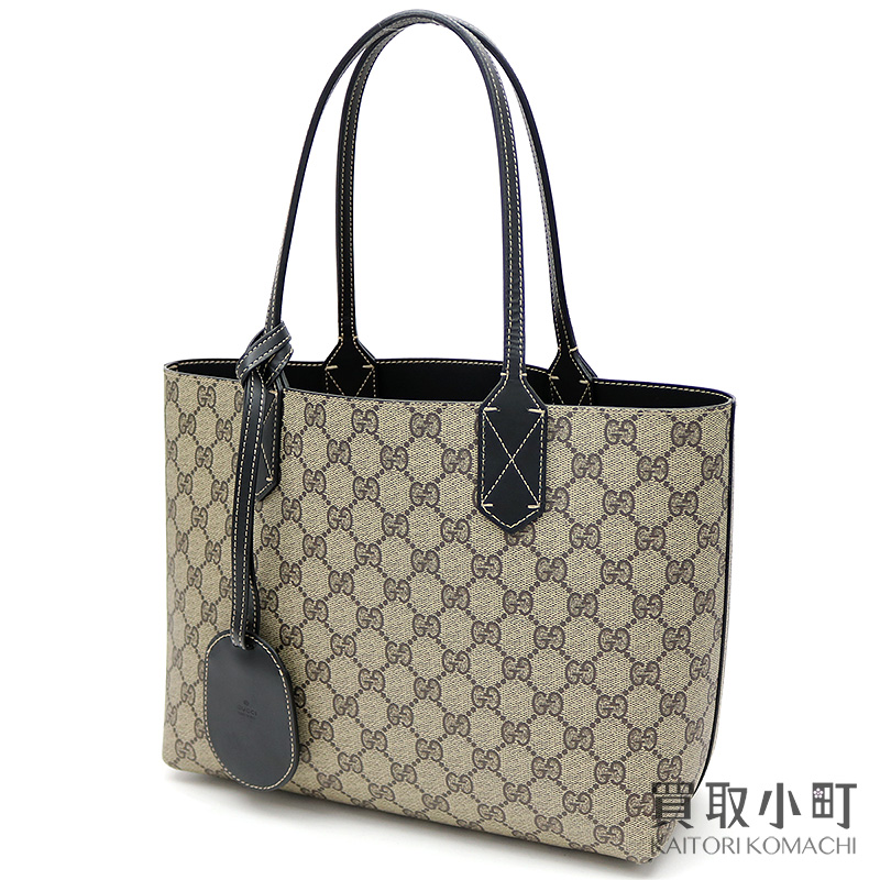 52193655800d Gucci reversible GG leather tote bag shoulder bag Small size GG  スプリームキャンバスブラックショッピングバッグショルダー 372613 A9810 9769 REVERSIBLE