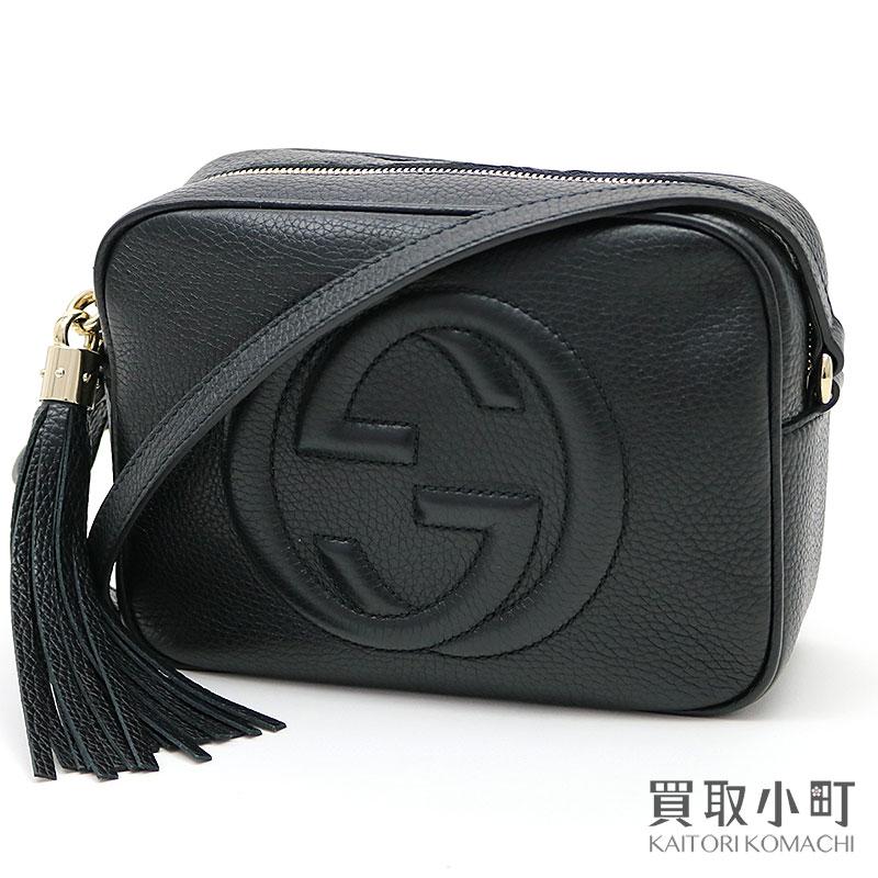 2145824f931 Gucci Soho leather Small disco bag black tassel charm interlocking grip G  stitch crossbody shoulder bag fringe black 308364 A7M0G 1000 SOHO LEATHER  DISCO ...