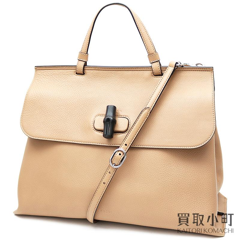 919631cf100 KAITORIKOMACHI  Gucci bamboo daily top steering wheel bag Rose beige ...