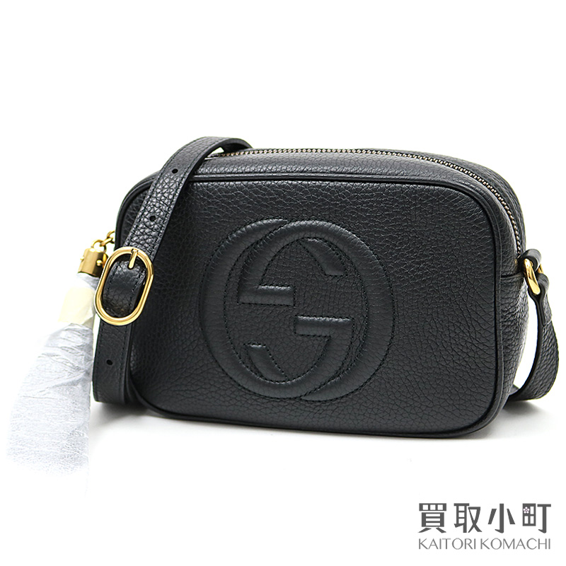 7301dfeb9 KAITORIKOMACHI: Gucci Soho leather mini-disco bag black tassel charm  interlocking grip G stitch crossbody shoulder bag fringe Small black  leather black ...