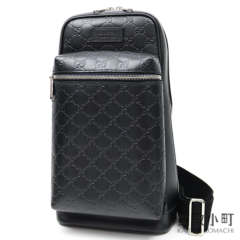 b994c420e KAITORIKOMACHI: Take Gucci Japan-limited Gucci signature crossbody bag  black GG emboss calfskin sling shoulder slant; 450970 men's CWCQJ 1000  Black Gucci ...