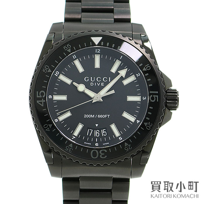 4ef426fe48a Watch Gucci dive 136.2 YA136205 GUCCIDIVE EXTRA LARGE WATCH for the Gucci  Gucci dive extra large black stainless steel watch 45MM divers men SS  breath ...